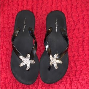 "Tommy Bahama 2"" flip flops with starfish"